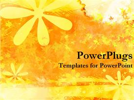 PowerPoint template displaying yellow flower stylized background