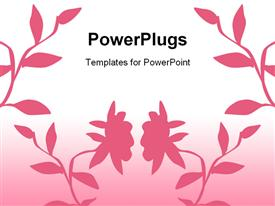 PowerPoint template displaying nice pink floral background