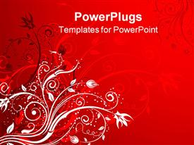 PowerPoint template displaying abstract floral background element for design in the background.
