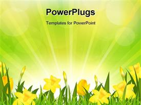 Flowers Easter Background powerpoint template