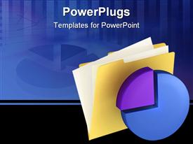 PowerPoint template displaying folder icon with clock . This is a 3D depiction