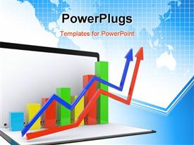 Folder with the schedule the complex analysis of data powerpoint template