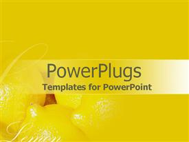 PowerPoint template displaying a number of lemons with yellowish background