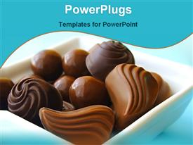 PowerPoint template displaying bowl of chocolates