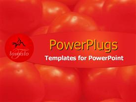 PowerPoint template displaying fresh from the market in the background.