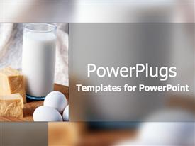 PowerPoint template displaying for good healthy teeth and bones