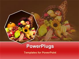 PowerPoint template displaying verity foods