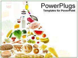 PowerPoint template displaying healthy eatables