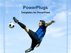 Football soccer player powerpoint design layout