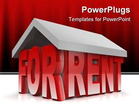 PowerPoint template displaying property for rent concept 3D