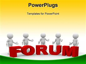 Forum Word powerpoint template