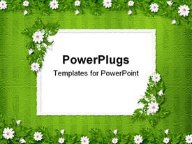 Grunge paper in scrapbooking style with bunch of flowers template for powerpoint