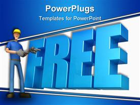 PowerPoint template displaying abstract character on a white background for use in presentations in the background.