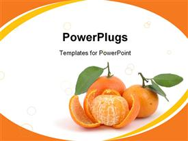 Pile of fresh tangerines in isolated white background presentation background