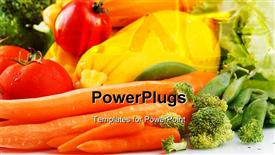 PowerPoint template displaying a lot of vegetables with place for text