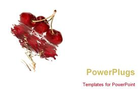 Cherries with its reflection template for powerpoint