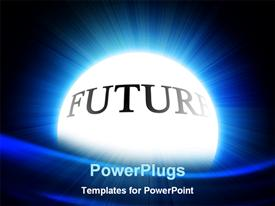 PowerPoint template displaying crystal ball with 'future' on a black background