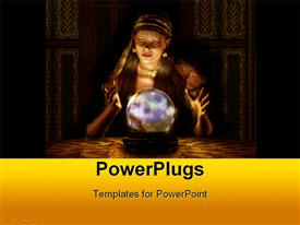 PowerPoint template displaying fortune teller