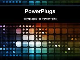 PowerPoint template displaying futuristic Technology as a Next Generation Art in the background.
