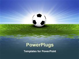 PowerPoint template displaying illustrated soccer ball