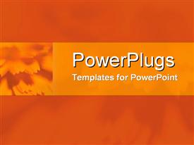Mandarin dahlia contrasted with burnt orange powerpoint design layout