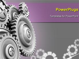 PowerPoint template displaying cog gear wheel background
