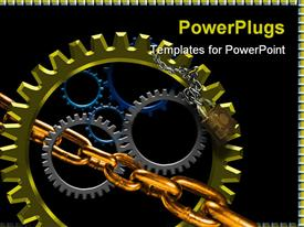 Several gears placed together closely with shadows and highlights  agriculture template for powerpoint
