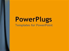PowerPoint template displaying a yellowish background with place for text in middle