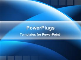 PowerPoint template displaying blue circular shapes abstract