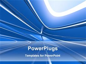Graphical abstract blue background powerpoint template