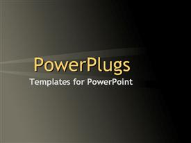 PowerPoint template displaying black background orange title simple
