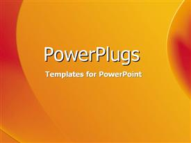 PowerPoint template displaying red and orange side curves against a yellow gradient in the background.