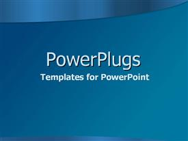 PowerPoint template displaying top blue gradient curve on simple blue in the background.