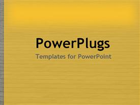 PowerPoint template displaying yellow with gray lines overlay