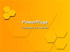 Yellow hexagon background powerpoint template