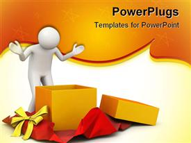 PowerPoint template displaying 3D characters