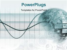 PowerPoint template displaying a gl0be with a number of wires and greenish background