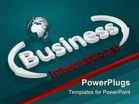 PowerPoint template displaying depiction about business concepts - Business - international - letters