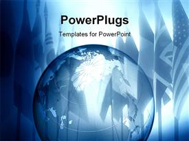 PowerPoint template displaying for Communications technology and Internet for use services in the background.