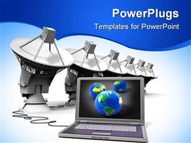 Modern Laptop powerpoint design layout