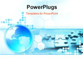 PowerPoint template displaying global Connection background depiction. See my gallery for more