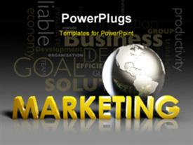 PowerPoint template displaying global Marketing Strategy Campaign as a Art