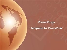 PowerPoint template displaying brown Globe