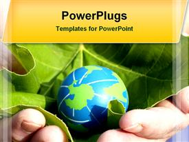 Environmental conservation template for powerpoint