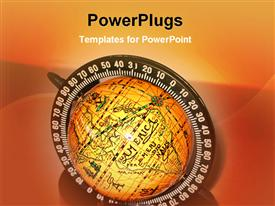 Globe image powerpoint template