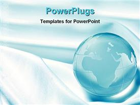 PowerPoint template displaying globe in the background.