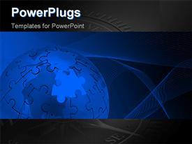 Globe_0420 powerpoint template