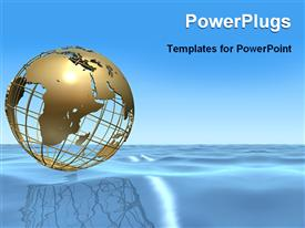 Globe on the ocean powerpoint template