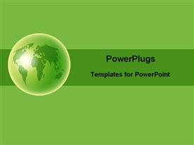 PowerPoint template displaying green globe in the background.