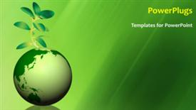 PowerPoint template displaying global environment in the background.